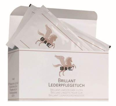 Bense & Eicke Brillant Lederpflegetuch, 12 x 6.5 ml (12 Tücher im Karton)