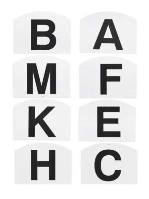 BUSSE Dressurbuchstaben SCHRAUBBAR, für Viereck 20 x 40 m, weiß