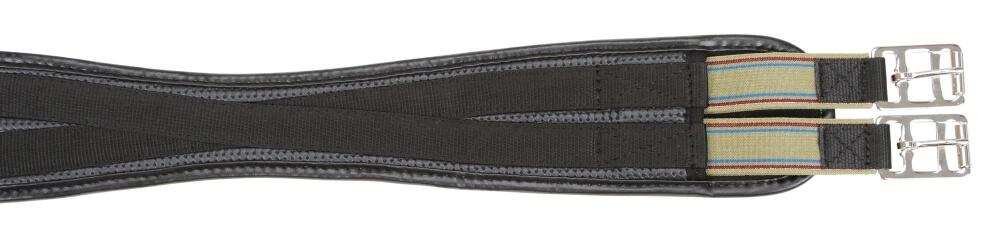 Sattelgurt geschweift PU schwarz 120 140 cm 130 110